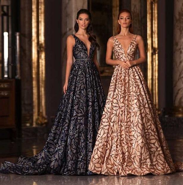 Большое разнообразие вечерних платьев